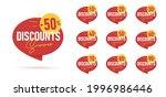 set of summer discounts promo... | Shutterstock .eps vector #1996986446