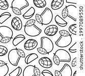 mango pattern background set.... | Shutterstock .eps vector #1997089550