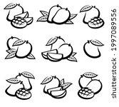 mango set. collection icon... | Shutterstock .eps vector #1997089556