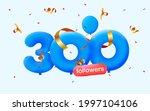 300 followers thank you 3d blue ...   Shutterstock .eps vector #1997104106