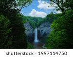 Taughannock Falls near Ithaca, New York and Cayuga Lake, plunge 215 feet which is 33 feet taller than Niagara Falls and the tallest single drop falls east of the Rockies.