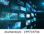 digitally generated screen... | Shutterstock . vector #199714736