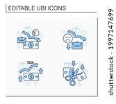 universal basic income line... | Shutterstock .eps vector #1997147699