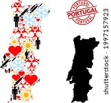 rubber portugal stamp seal  and ... | Shutterstock .eps vector #1997157923