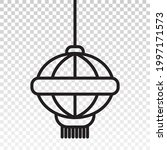 line art vector icon the... | Shutterstock .eps vector #1997171573