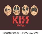 rock band. cute egg character...   Shutterstock .eps vector #1997267999