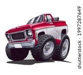 truck cartoon illustration with ...   Shutterstock .eps vector #1997287649