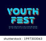 vector event poster youth fest...   Shutterstock .eps vector #1997303063