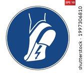 wear anti static footwear sign. ...   Shutterstock .eps vector #1997306810