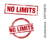 no limits stamp | Shutterstock .eps vector #199730870