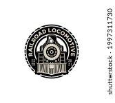 Vintage Retro Railroad Steam...