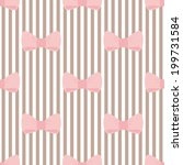 tile pattern with pink bows on... | Shutterstock . vector #199731584