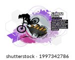 active young man doing tricks...   Shutterstock .eps vector #1997342786