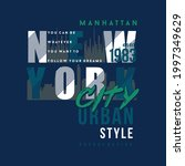 new york city typography...   Shutterstock .eps vector #1997349629