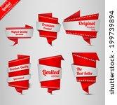 origami design label set | Shutterstock .eps vector #199739894