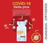 covid 19 coronavirus delta plus ...   Shutterstock .eps vector #1997420420