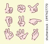 stop  pointing  thumbs up  hand ... | Shutterstock .eps vector #1997427770