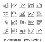 pack of graph  chart line icons....