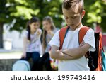 two little girls pointing to... | Shutterstock . vector #199743416