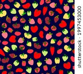 ripe strawberries  wild...   Shutterstock .eps vector #1997453000