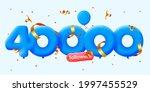 40000 followers thank you 3d... | Shutterstock .eps vector #1997455529