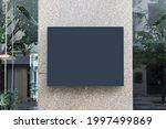 shop exterior mockup template...   Shutterstock . vector #1997499869