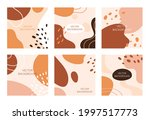 abstract shapes background.... | Shutterstock .eps vector #1997517773