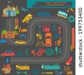 set of auto repair service... | Shutterstock .eps vector #199753400
