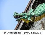 Metal Dragon Head In A Stylized ...