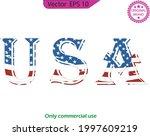 usa symbol. usa flag icon. usa... | Shutterstock .eps vector #1997609219