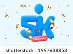 5k followers thank you 3d blue...   Shutterstock .eps vector #1997638853