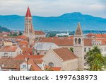 Red rooftops at Croation town Trogir