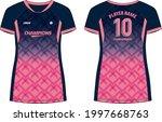 women sports jersey t shirt... | Shutterstock .eps vector #1997668763