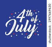 4th of july  fourth of july ... | Shutterstock .eps vector #1997669630