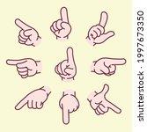 hand direction sign variation...   Shutterstock .eps vector #1997673350