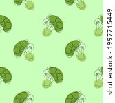 seamless pattern with broccoli...   Shutterstock .eps vector #1997715449