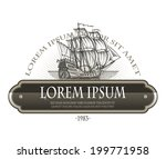 sailing ship. vector format | Shutterstock .eps vector #199771958
