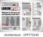 graphical design newspaper... | Shutterstock .eps vector #199773140