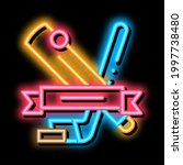 hockey sport lesson neon light...   Shutterstock .eps vector #1997738480