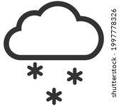 winter snow vector icon cloud... | Shutterstock .eps vector #1997778326