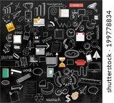 set of handmade line business...   Shutterstock .eps vector #199778834