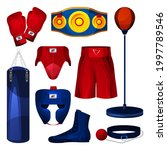 boxing equipment  game tools...   Shutterstock .eps vector #1997789546