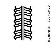 stainless rebar line icon... | Shutterstock .eps vector #1997834819