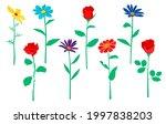 vector garden and field spring... | Shutterstock .eps vector #1997838203