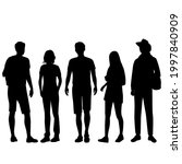 vector silhouettes of  men and... | Shutterstock .eps vector #1997840909