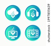 multimedia download icon set... | Shutterstock .eps vector #1997855639