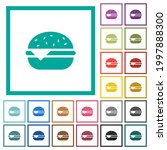 single cheeseburger flat color... | Shutterstock .eps vector #1997888300