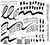set of abstract hand drawn... | Shutterstock .eps vector #1997905280