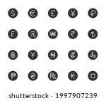 vector set of currency flat... | Shutterstock .eps vector #1997907239