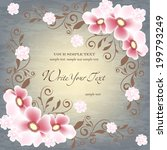 wedding card or invitation with ... | Shutterstock .eps vector #199793249